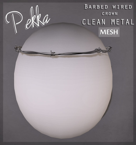 pekka barbed wired crown clean metal
