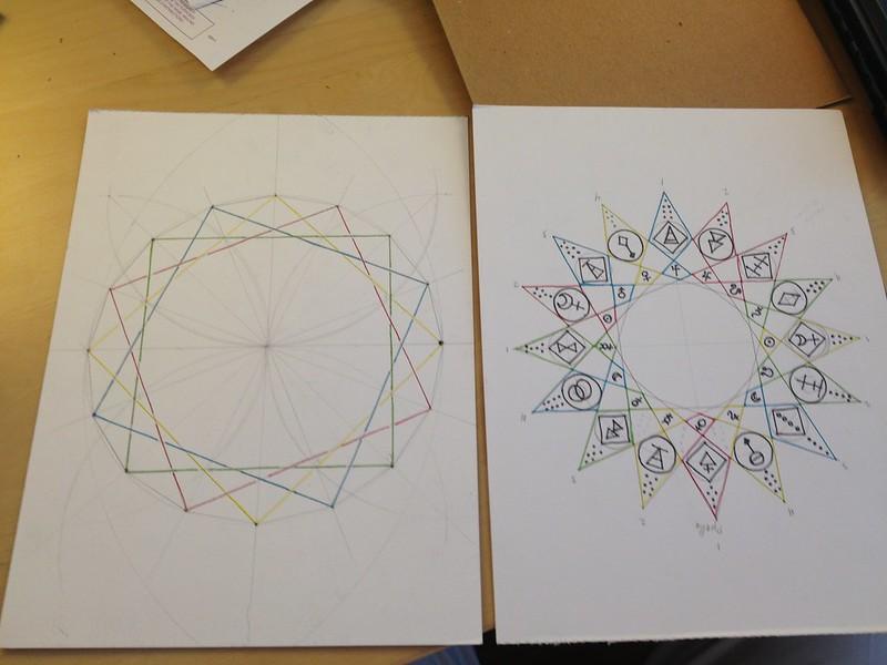 For @polyphanes: toward a geomantic mandala