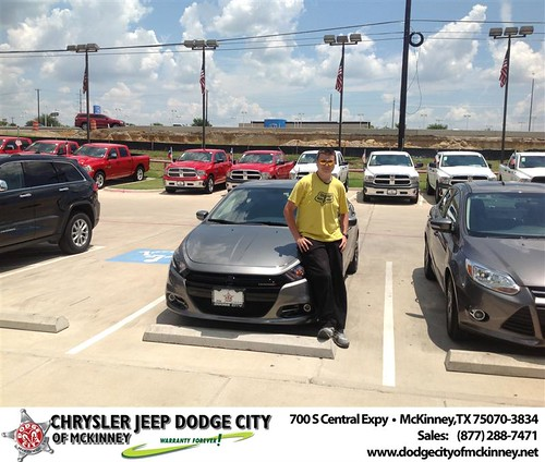 Thank you to Joseph Humphreys on the 2013 Dodge Dart from Brent Villarreal and everyone at Dodge City of McKinney! by Dodge City McKinney Texas