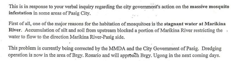 Mosquito problems
