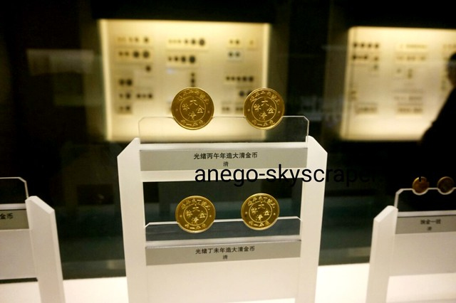 上海博物館の清の金貨
