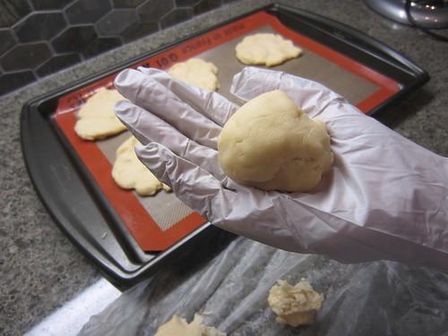 Work dough in your hands