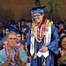 Kapiolani Community College graduates at the campus' commencement ceremony on  The Great Lawn. May 10, 2013