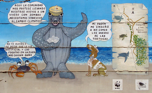 'Help Save the Turtles' sign in Costa Rica