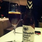 Cerveza Söhnfeld London porter @ Restaurante Pujol