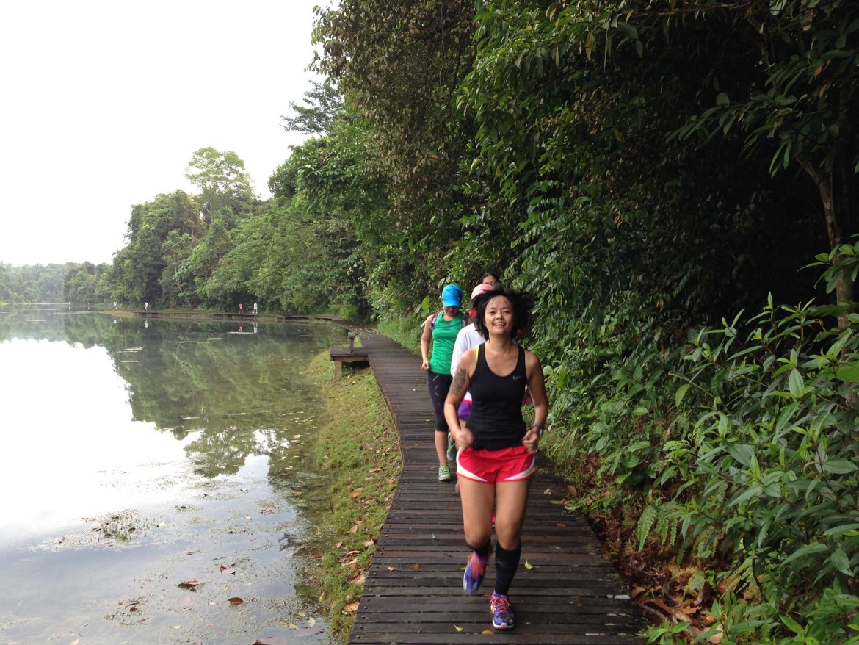macritchie trail run oct 2013