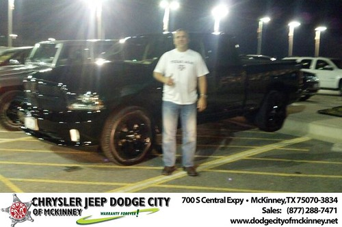 Thank you to Richard Jones on your new 2014 #Ram #1500 from Bobby Crosby and everyone at Dodge City of McKinney! #NewCarSmell by Dodge City McKinney Texas
