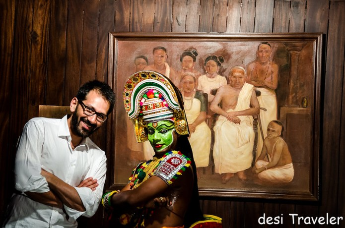 nelson carvalheiro with Ottamthullal dancer Kannan