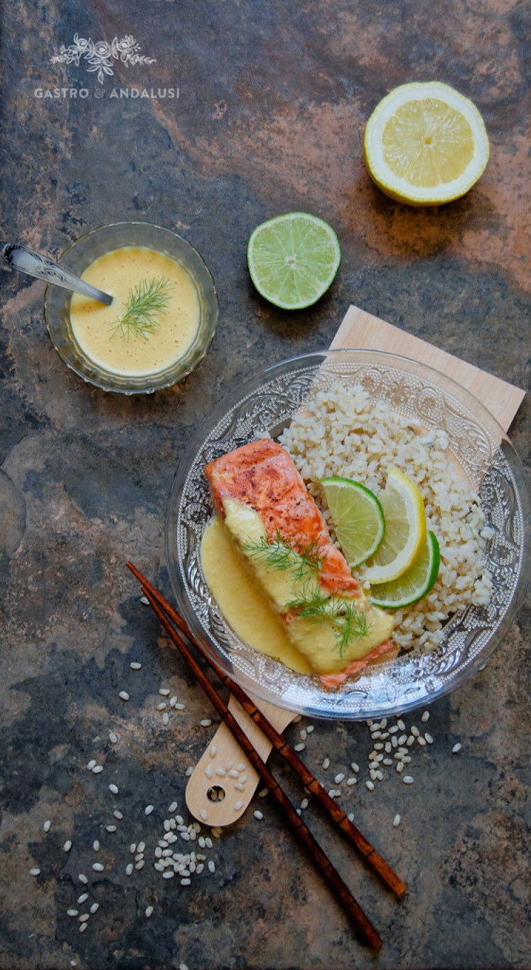 salmon con salsa de cítricos