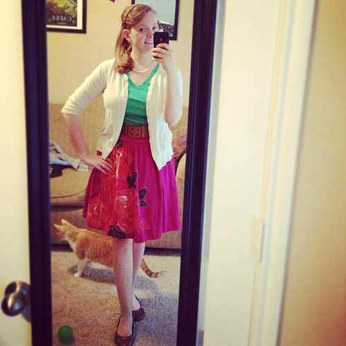 I'm not entirely sold on this #ootd, but it does come with a free Finnegan cameo :)