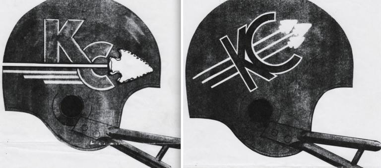 capacete original de teste da marca Kansas City Chiefs