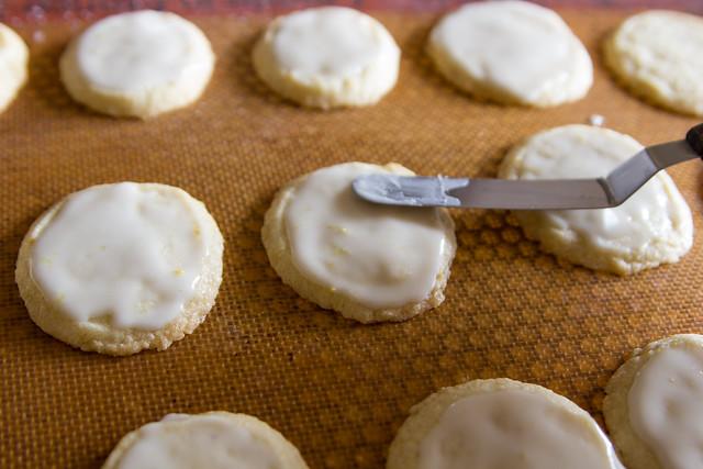 Glazed Lemon-Rosemary Butter Cookies