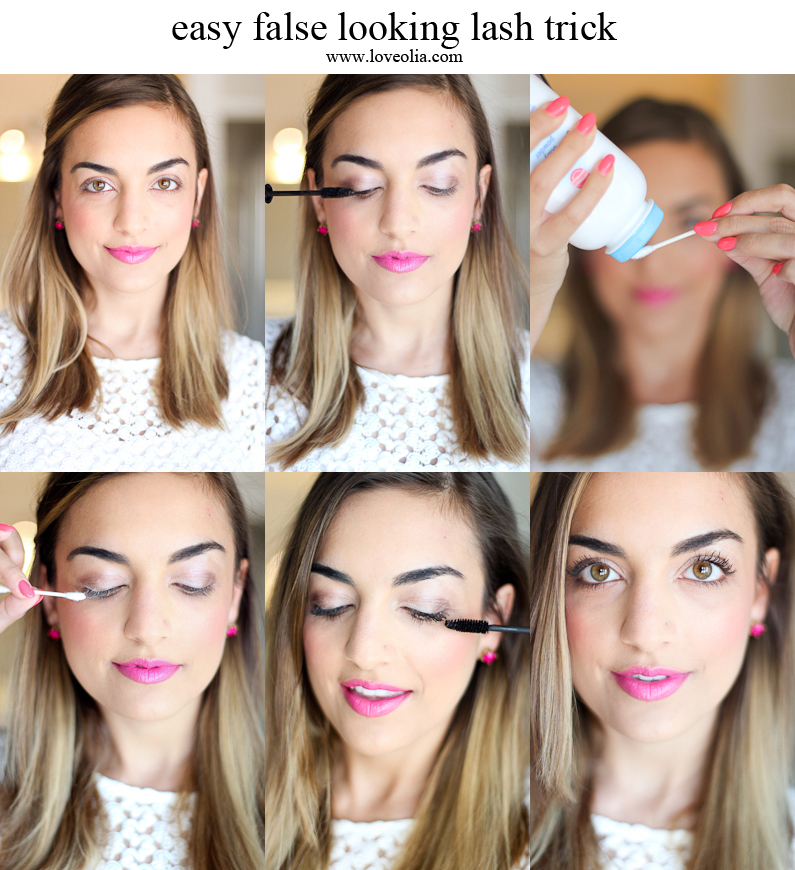 false looking lash trick baby powder q-tips
