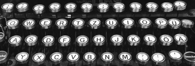 100 year old typewriter keys.