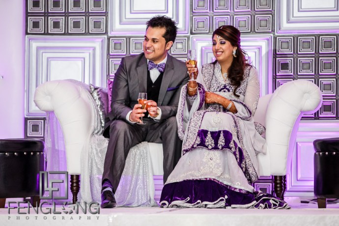 Kanwal and Ali listen to wedding speeches
