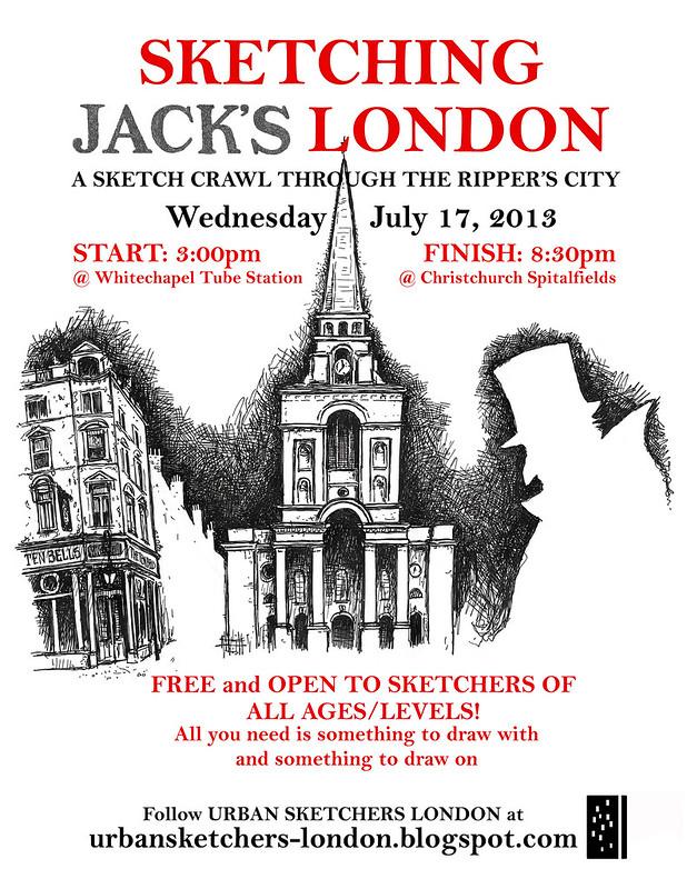 Sketching Jacks London: sketchcrawl, July 17