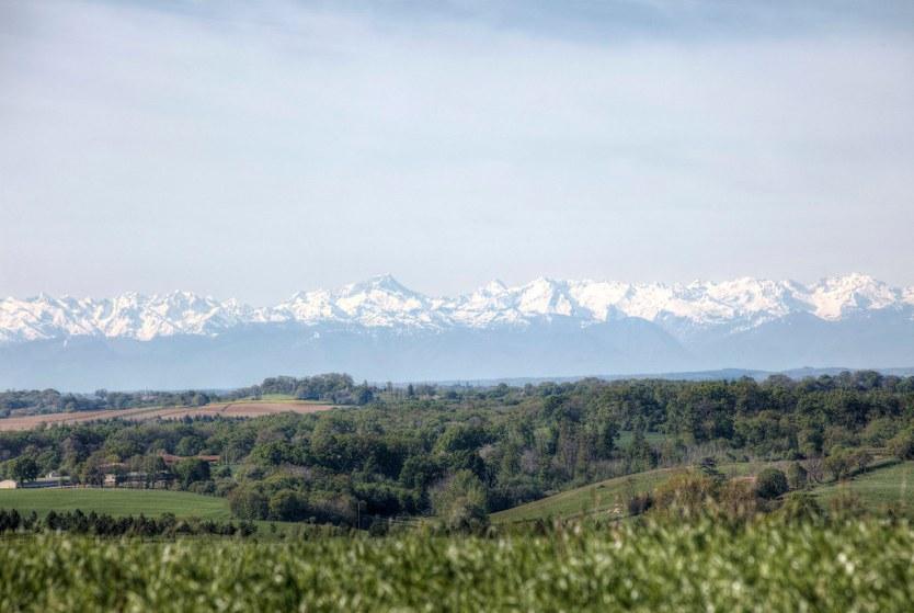 The Pyrenees Mountains.
