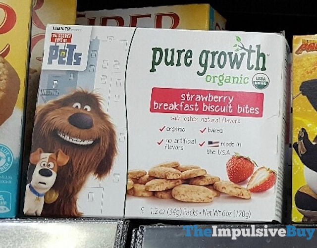 Pure Growth The Secret Life of Pets Strawberry Breakfast Biscuit Bites