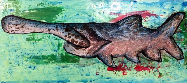 Paddlefish Painting