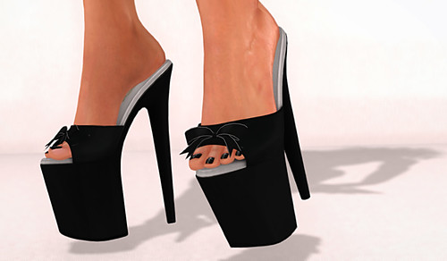 L.Warwick Siren -Bow Platform Heels
