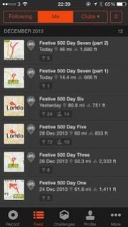 Rapha Festive 500 Complete!