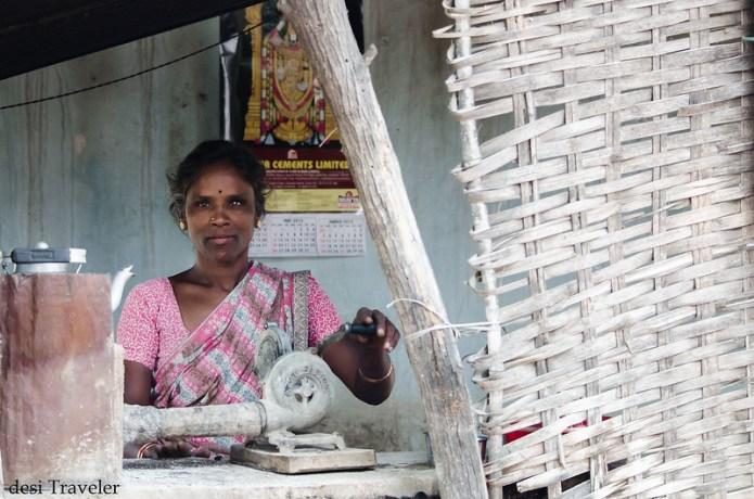 women in road side tea stall
