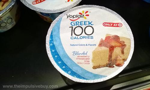 Yoplait Greek 100 Calories Blended Strawberry Cheesecake Bliss Yogurt