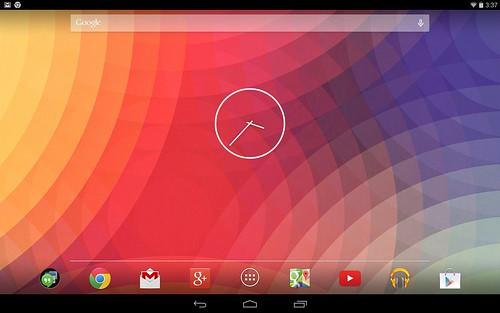 Home screen ของ Samsung Nexus 10
