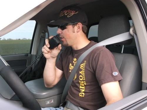 Kasey doing a radio check