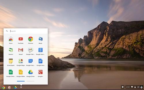 หน้า Desktop ของ Google Chrome OS