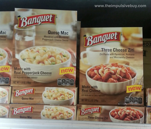 Banquet Queso Mac and Three Cheese Ziti Meals