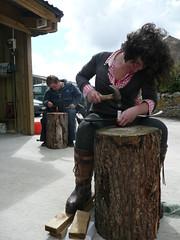 peening scythe with jig