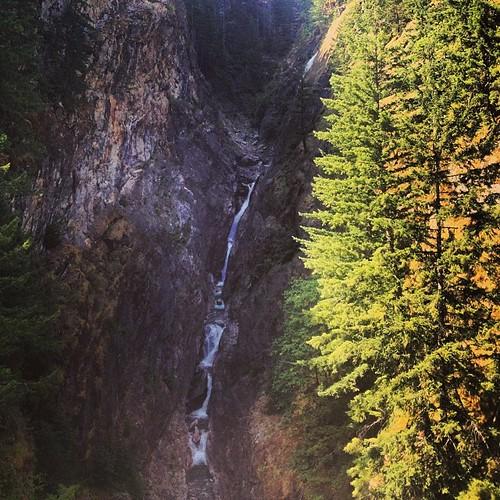 Waterfall off of Highway 20 Cascades WA by @MySoDotCom