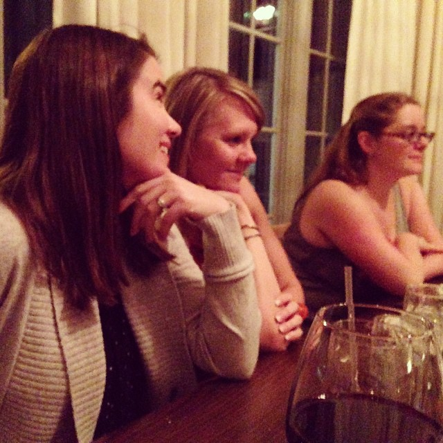 This was the less rowdy side of the table