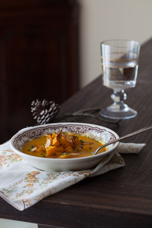 Pumpkin Soup with Almonds 4