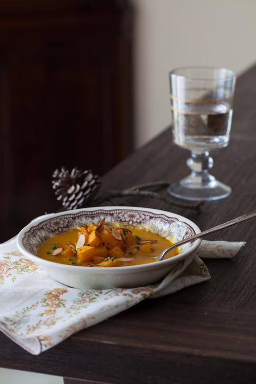 Pumpkin Soup with Almonds 4