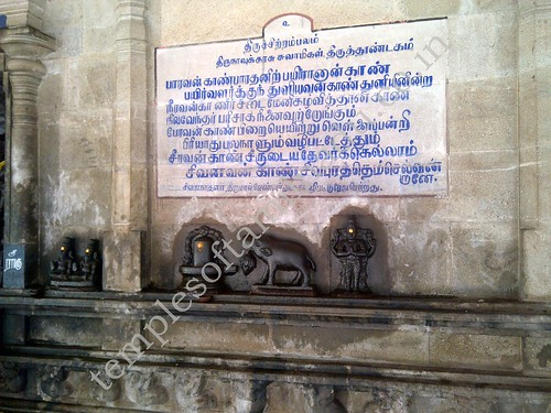 Varaha performing puja to Shiva. Sivagurunathar temple at Sivapuram in Tamil