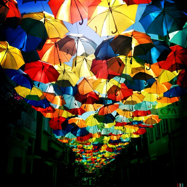 colorful umbrella canopy