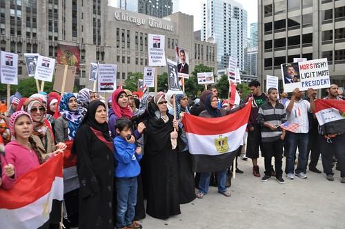 Demonstration for Democracy in Egypt