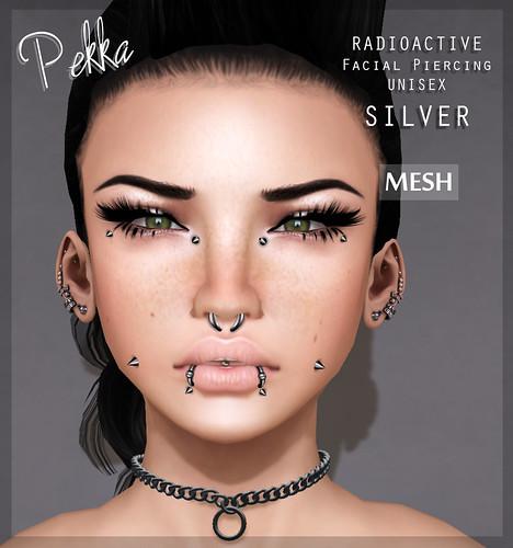 pekka radioactive unisex piercing silver