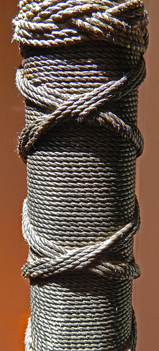 decorative knotting on a ship's support