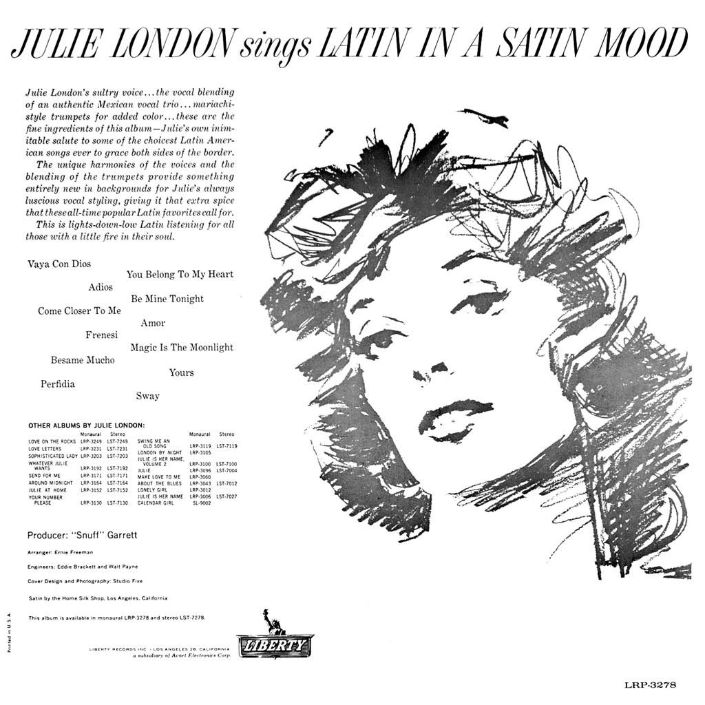Julie London Latin in a Satin Mood