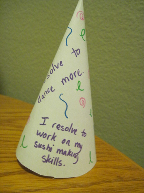 Resolution party hat 2