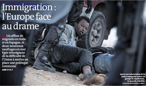 14e06 LMonde Portada Tragedia inmigración