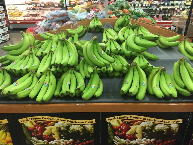 The greenest bananas i've seen in my life.