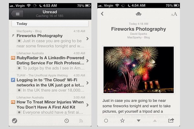 Reeder Screenshots