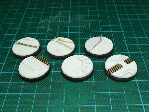 Home-made sci-fi miniature bases