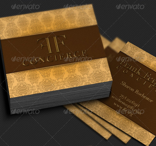 Concierge Square Business Card Template