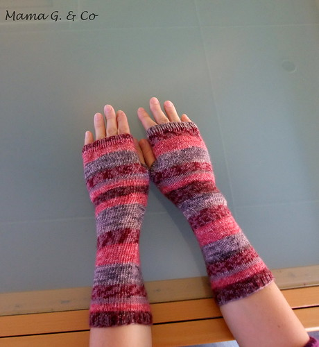 Pink Stripes Hnadwarmers (2)
