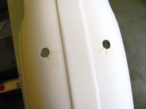Front Fender After Sanding Fiberglass Resin with 220 Grit